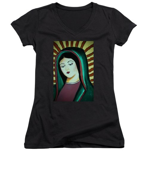 Lady Of Guadalupe Women's V-Neck