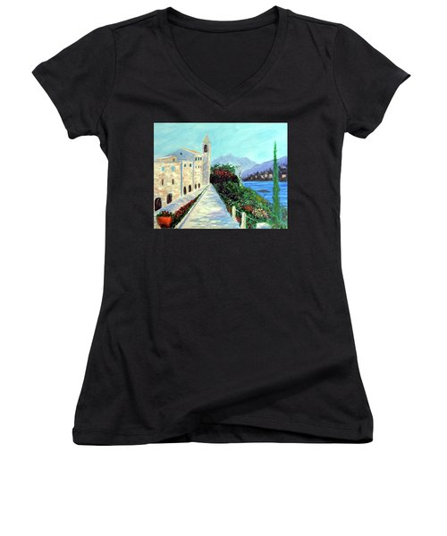 Lake Como Colors  Women's V-Neck