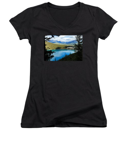 Lake Louise Chalet Women's V-Neck (Athletic Fit)