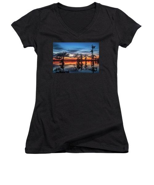 Lake Martin Sunset Women's V-Neck