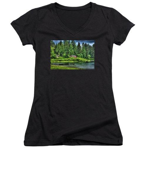 Lake Quinault 3 Women's V-Neck T-Shirt