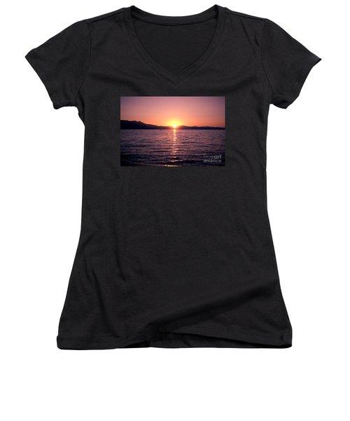 Lake Sunset 8pm Women's V-Neck