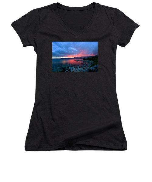 Lake Tahoe Sunset Women's V-Neck