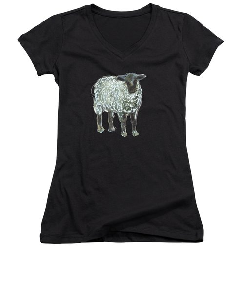 Lamb Art An032 Women's V-Neck (Athletic Fit)