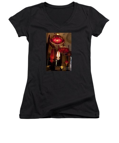 Women's V-Neck T-Shirt (Junior Cut) featuring the photograph Lamps For Your Style by Ivete Basso Photography