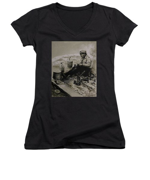 Landier.  Tinsmith. Women's V-Neck T-Shirt