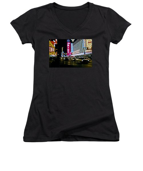 Las Vegas 1964  II Women's V-Neck (Athletic Fit)