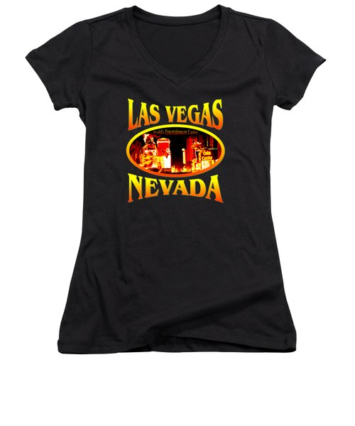 Las Vegas Nevada - Tshirt Design Women's V-Neck (Athletic Fit)