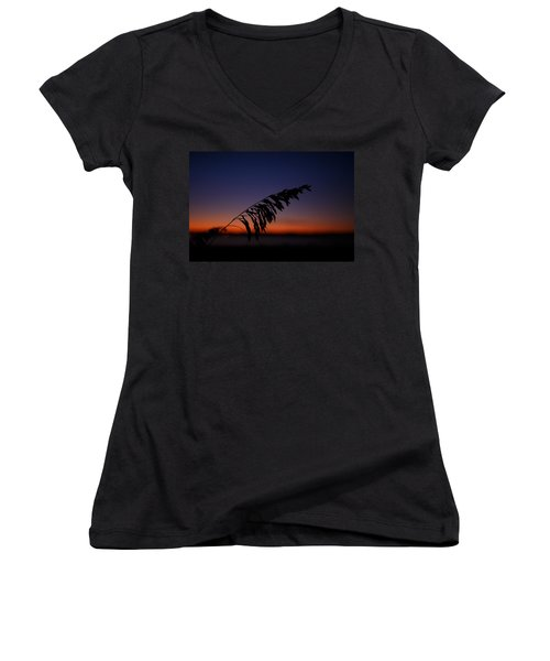 last light at Hilton Head Island Women's V-Neck T-Shirt