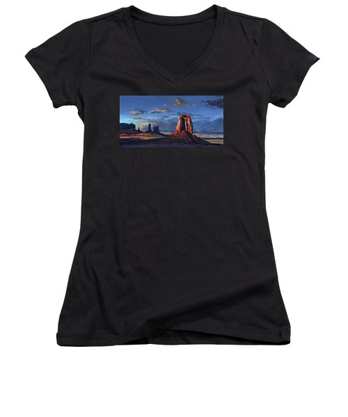 Last Rays Of The Day Women's V-Neck (Athletic Fit)