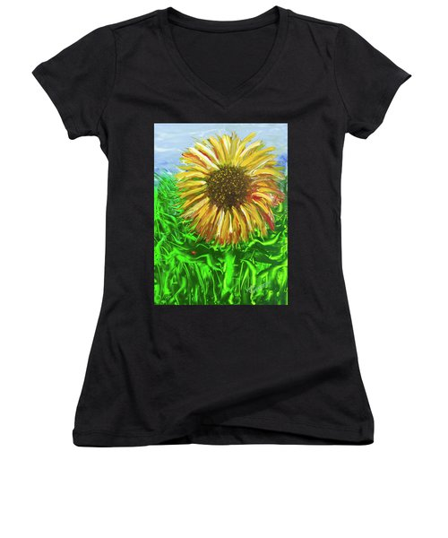 Last Sunflower Women's V-Neck T-Shirt