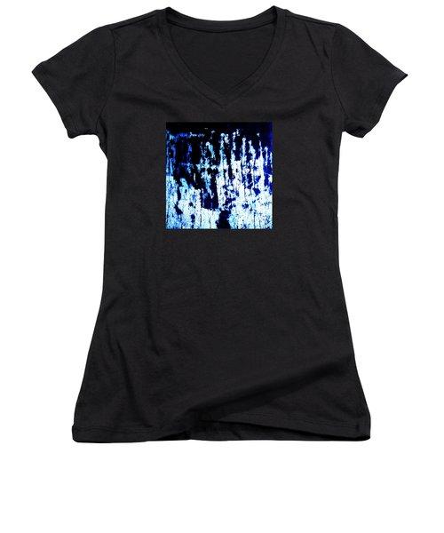 Last Supper Women's V-Neck T-Shirt (Junior Cut) by Vanessa Palomino
