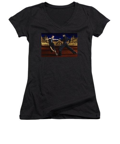 Last Tango In Paris Women's V-Neck T-Shirt (Junior Cut)