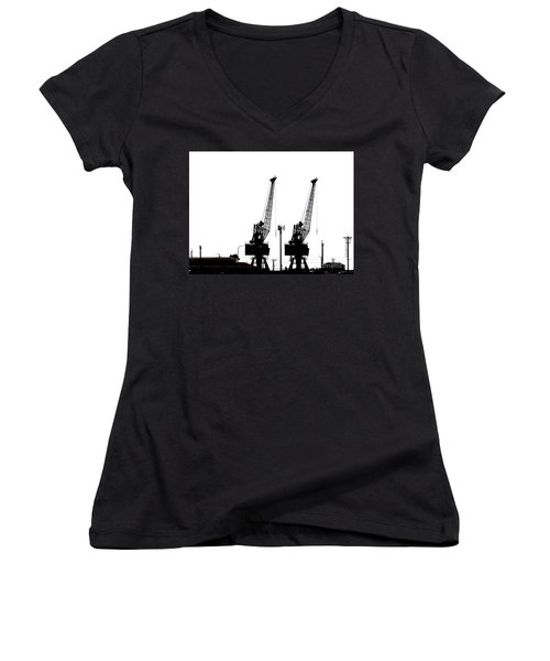 Women's V-Neck T-Shirt (Junior Cut) featuring the photograph Last To The Ark by Stephen Mitchell