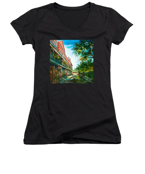 Late Afternoon On The Square Women's V-Neck