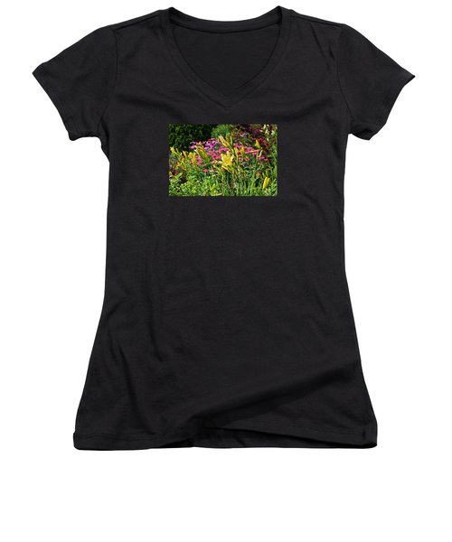 Late July Garden 1 Women's V-Neck (Athletic Fit)