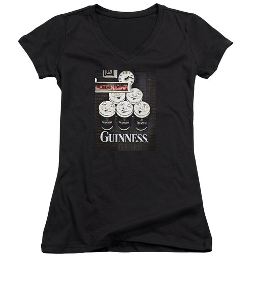 Late Night Guinness Limerick Ireland Women's V-Neck