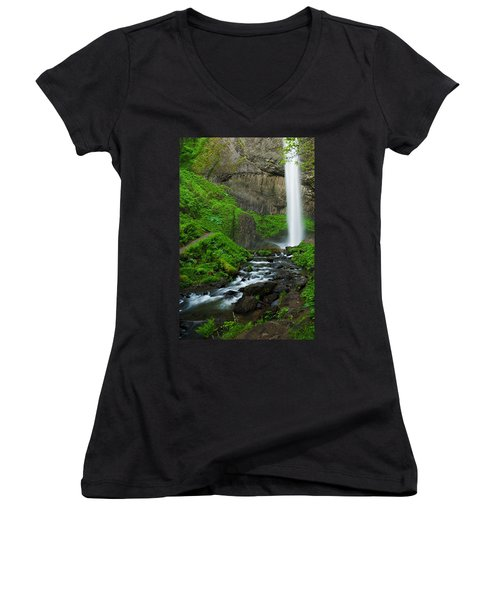 Latourell Falls Oregon Women's V-Neck
