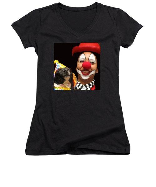 Laugh Out Loud Women's V-Neck T-Shirt (Junior Cut) by Ian  MacDonald