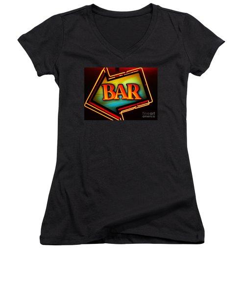 Laurettes Bar Women's V-Neck T-Shirt