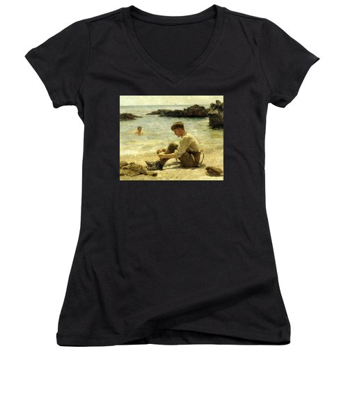 Lawrence As A Cadet  Women's V-Neck T-Shirt