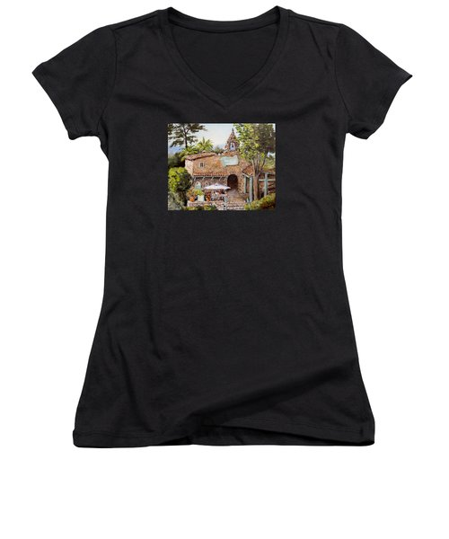 Le Petite Chapelle Women's V-Neck T-Shirt (Junior Cut) by Alan Lakin
