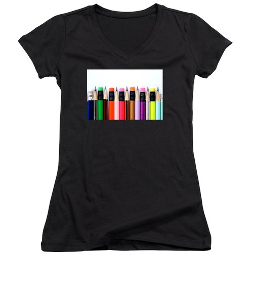 Leads And Erasers Women's V-Neck