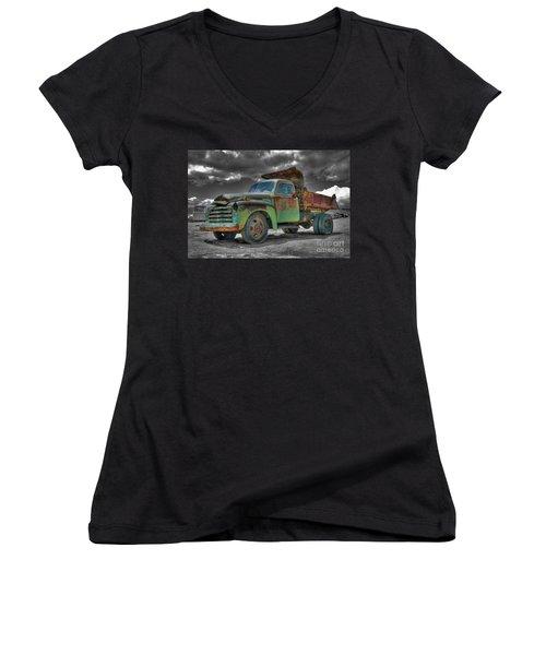 Leadville Coal Company Women's V-Neck (Athletic Fit)
