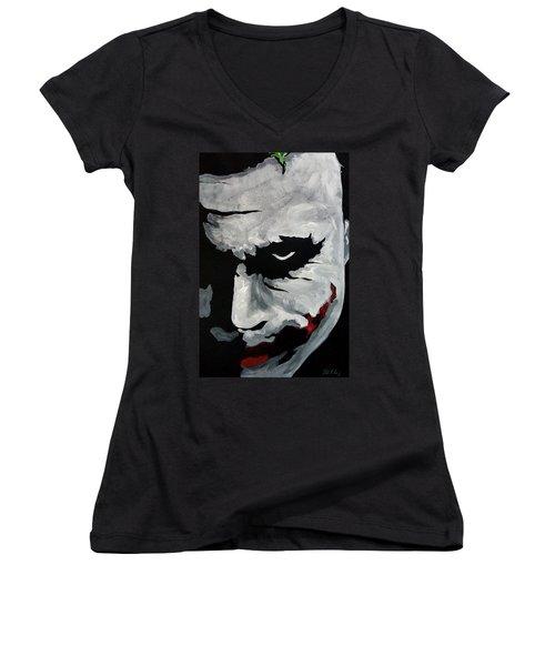 Ledger's Joker Women's V-Neck