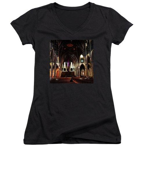 Lent  Women's V-Neck T-Shirt (Junior Cut) by Frank J Casella
