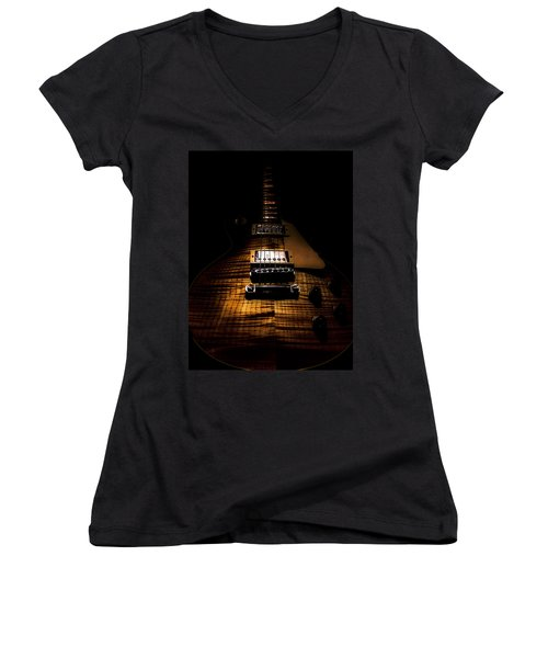 Burst Top Guitar Spotlight Series Women's V-Neck