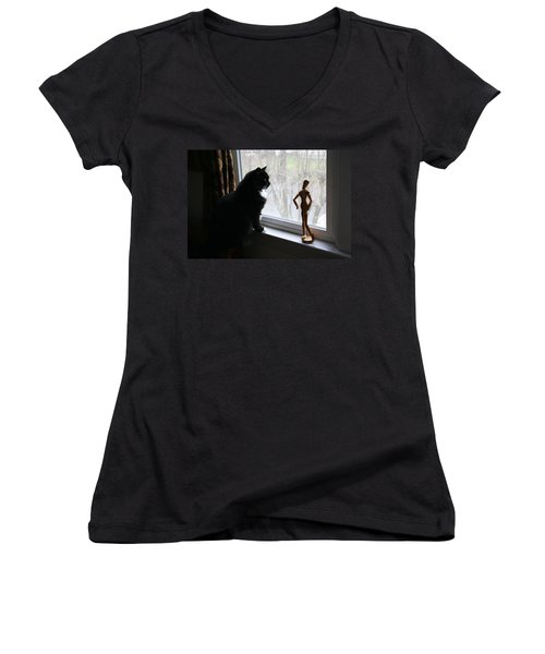 Lesson In Perspective  Women's V-Neck