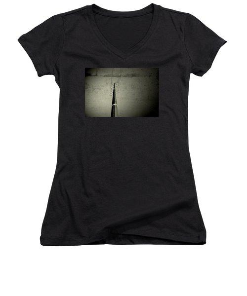 Let It Go Women's V-Neck T-Shirt (Junior Cut) by Mark Ross