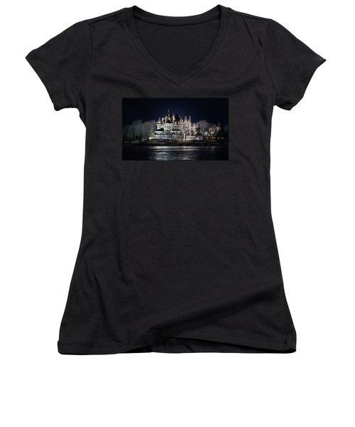 Let The Light On Women's V-Neck T-Shirt