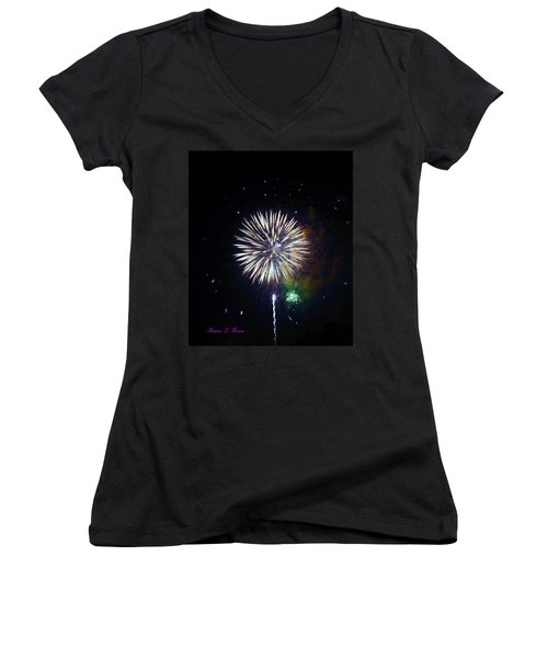 Women's V-Neck T-Shirt (Junior Cut) featuring the photograph Lets Celebrate by Shana Rowe Jackson