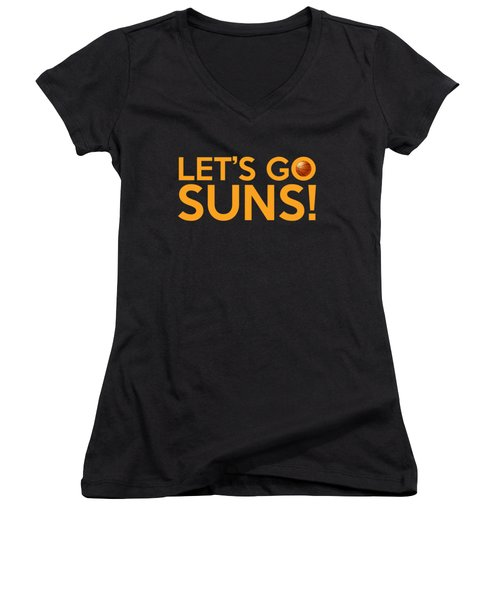 Let's Go Suns Women's V-Neck (Athletic Fit)