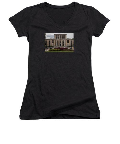Library At Penn State University  Women's V-Neck T-Shirt