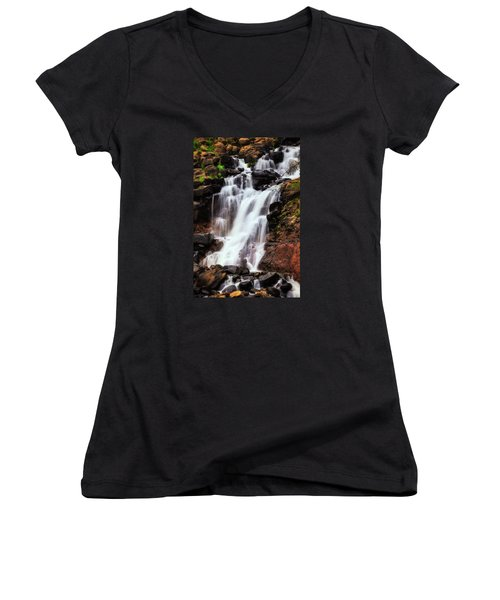 Life From Above Women's V-Neck T-Shirt (Junior Cut) by Rick Furmanek
