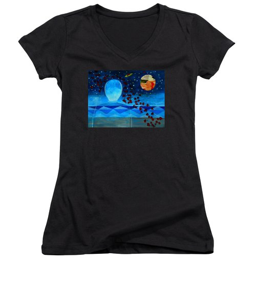 Life In Glass And Fake World Women's V-Neck (Athletic Fit)