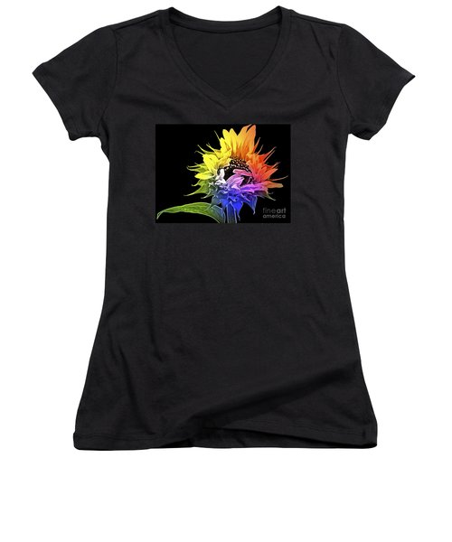 Life Is Like A Rainbow ... Women's V-Neck (Athletic Fit)