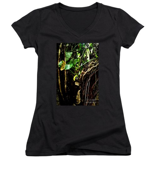 Life Women's V-Neck T-Shirt (Junior Cut) by Rushan Ruzaick