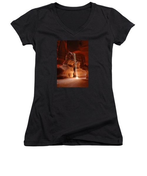 Light From Above Women's V-Neck (Athletic Fit)