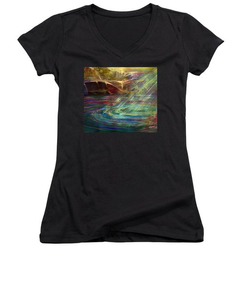Light In Water Women's V-Neck T-Shirt (Junior Cut)