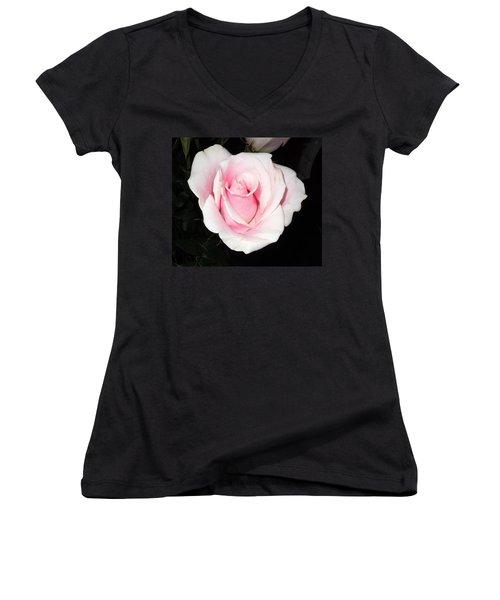 Light Pink Rose Women's V-Neck