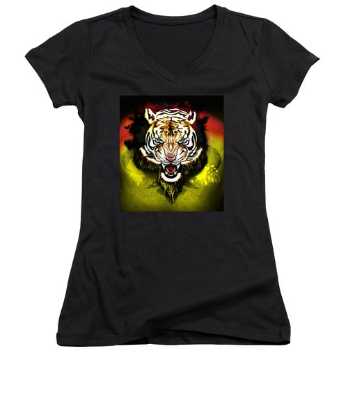 Light The Torch Women's V-Neck (Athletic Fit)