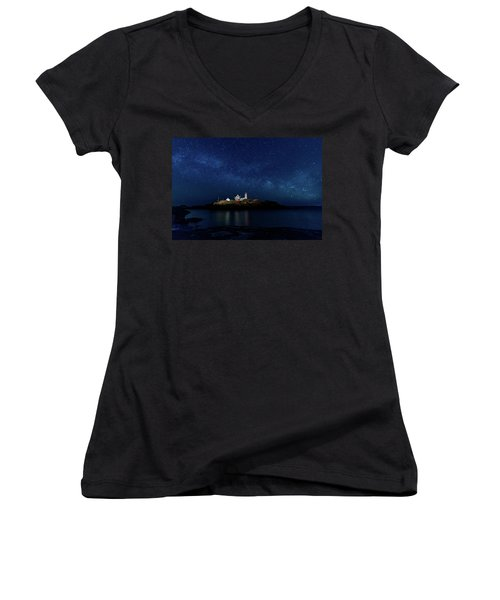 Light Up Nubble Lighthouse Women's V-Neck