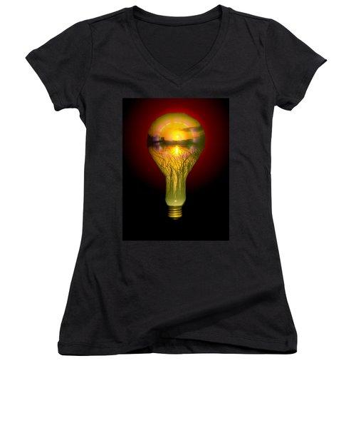 Lighthearted Sunset Women's V-Neck T-Shirt