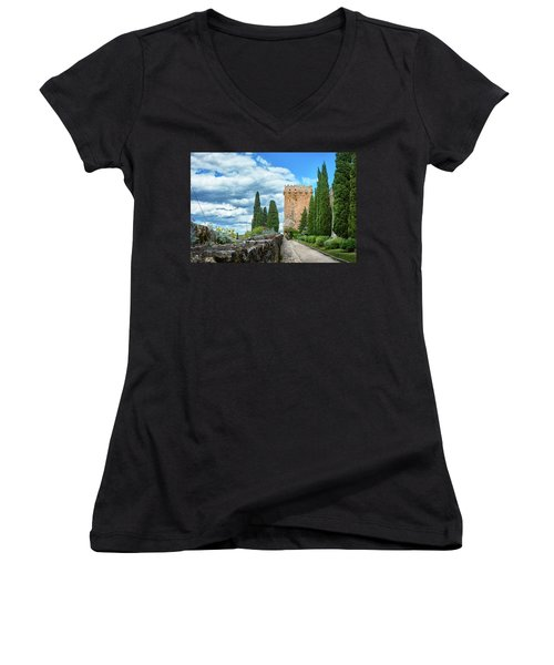 Like A Fortress In The Sky Women's V-Neck