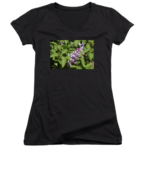 Women's V-Neck featuring the photograph Lilacs 5551 by Antonio Romero