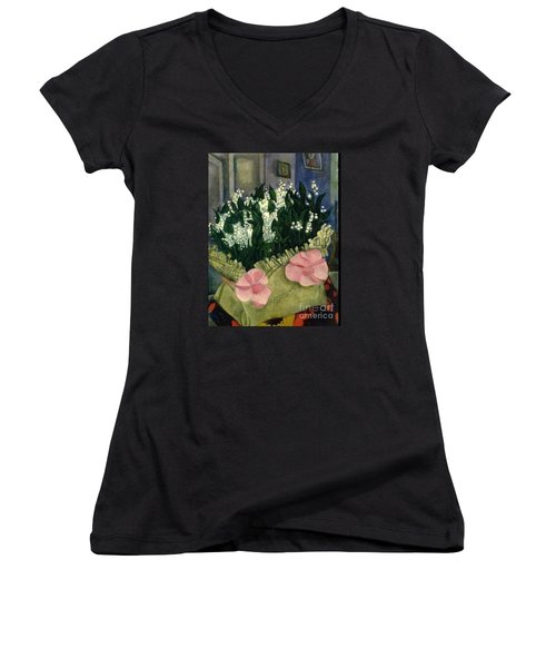 Lilies Of The Valley Women's V-Neck T-Shirt